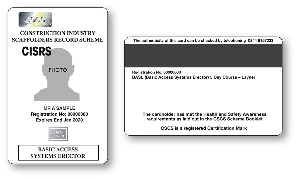 CISRS BASE Card (Basic Access System Erector)
