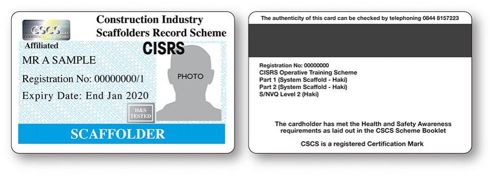 CISRS Scaffolder (System) Card